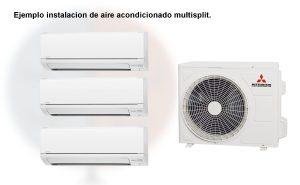 El sistema multisplit consiste en un compresor y varios evaporadores distribuidos por la vivienda.