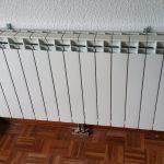 Emisores de calor o radiadores de una instalación de calefacción.