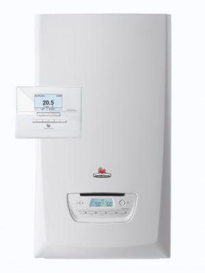 Caldera de gas de condensación Themafast Condens de Saunier Duval. Las calderas Themafast Condens 25 y 30 son silenciosas y proporcionan un gran confort.