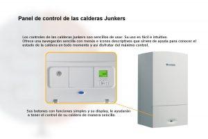 Panel de control de las calderas de condensación Junkers Cerapur.