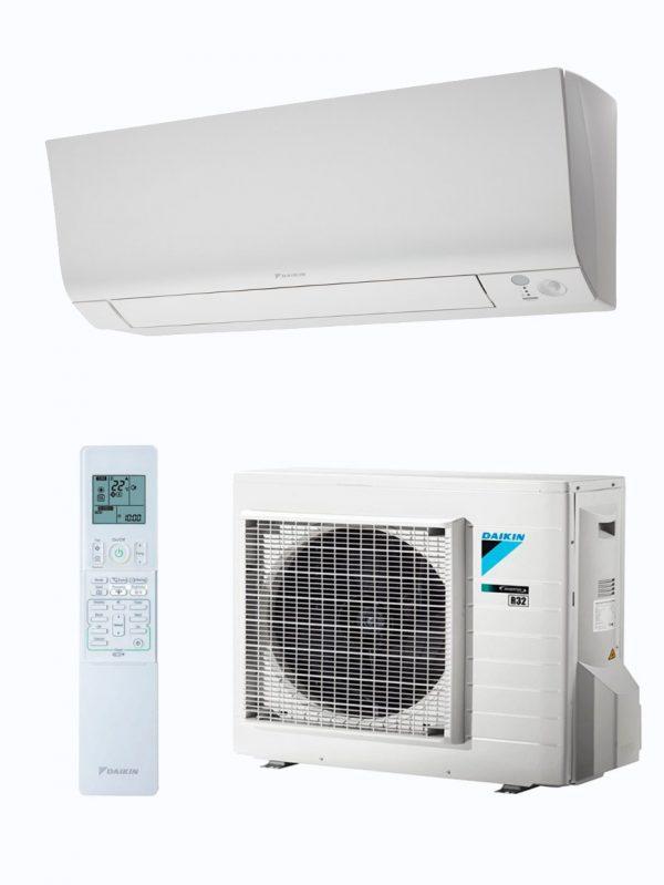 Conjunto Split 1x1 de los modelos de aire acondicionado de Daikin TXM25M, TXM35M y TXM50M.