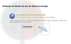 Filtro ionizado de los modelos MSZ-DM25VA y MSZ-DM35VA de la serie Impulsa.