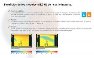 Beneficios de los modelos MSZ-HJ50VA y MSZ-HJ60VA de aire acondicionado de Mitsubishi.