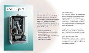 Caldera sin carcasa con las ventajas de las calderas Vaillant Ecotec Pure VMW 236/7-2 ES.