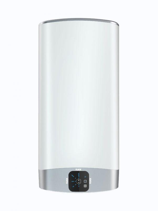 Vista frontal de termos Fleck Duo 5 de 30, 50, 80 y 100 litros en posicion vertical.