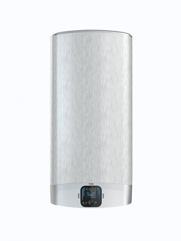 Vista frontal de termos Fleck Duo 7 de 30, 50, 80 y 100 litros en posicion vertical.