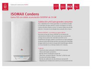 Isomax Condens 35 GN son calderas de condensación para hogares con gran demanda de agua caliente sanitaria.