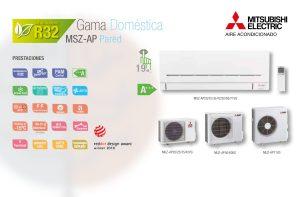 Los MSZ AP 25, 35, 42, 50 kW ofrecen ventajas y eficiencia al mejor precio.